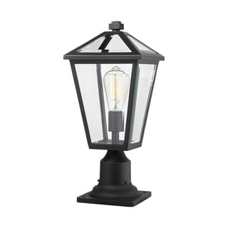 Talbot 1 Light Outdoor Pier Mounted Fixture in Black