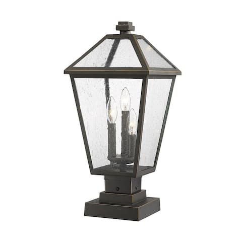 Talbot 3 Light Outdoor Pier Mounted Fixture in Rubbed Bronze