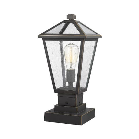 Talbot 1 Light Outdoor Pier Mounted Fixture in Rubbed Bronze