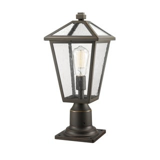 Link to Talbot 1 Light Outdoor Pier Mounted Fixture in Rubbed Bronze Similar Items in Pier Mount Lights