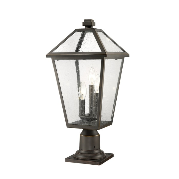 Talbot 3 Light Outdoor Pier Mounted Fixture in Rubbed Bronze. Opens flyout.