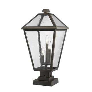 Link to Talbot 3 Light Outdoor Pier Mounted Fixture in Rubbed Bronze Similar Items in Pier Mount Lights