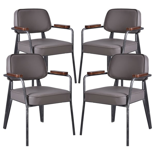 Shop Paul Contemporary Metal Dining Chair In Silver