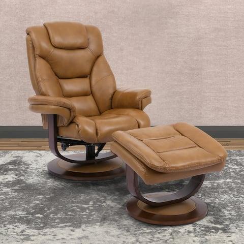 Empire Reclining Swivel Chair & Ottoman