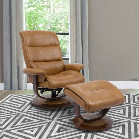 Copper Grove Winschoten Reclining Swivel Chair and Ottoman