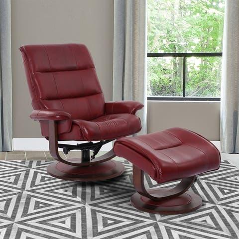 Copper Grove Winschoten Reclining Swivel Chair and Ottoman