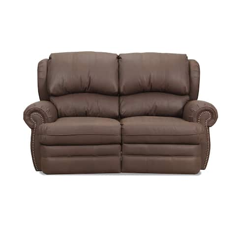 Nichol Faux Leather Power Loveseat Recliner with USB Charging Port