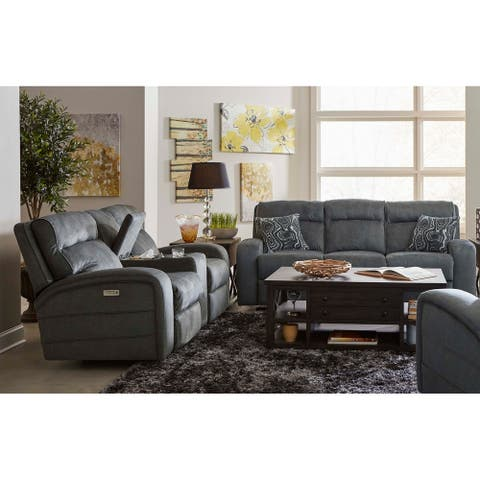 Warren Fabric Power Sofa and Loveseat Recliner with USB Charging Port