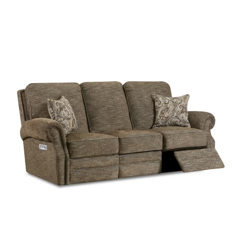 Monet Fabric Power Sofa Recliner with USB Charging Port