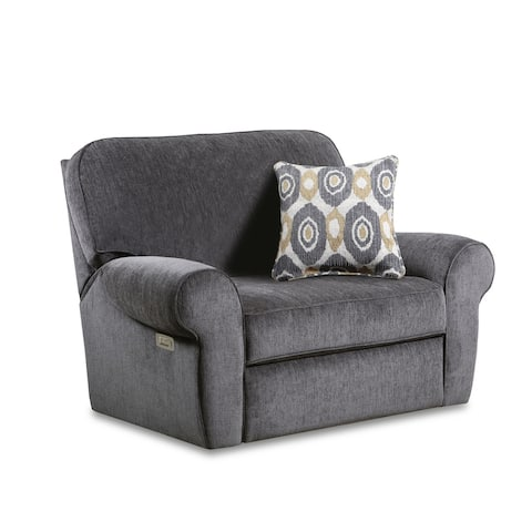 Pronto Fabric Power Cuddler Recliner with USB Charging Port