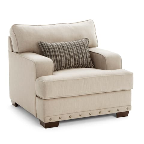 Ammon Fabric Armchair with toss pillow