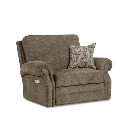 Monet Fabric Power Cuddler Recliner with USB Charging Port