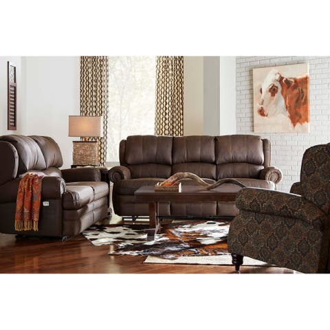 Nichol Faux Leather Power Sofa and Loveseat Recliner Set with USB Charging Port