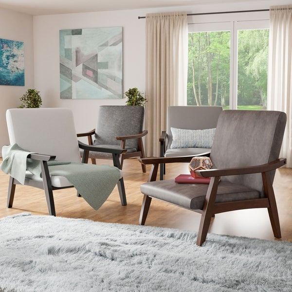 Furniture of America Balf Modern Faux Leather Padded Accent Chair. Opens flyout.