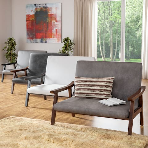Bryson Contemporary Loveseat Bench by FOA