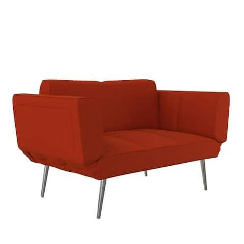 DHP Euro Upholstered Futon with Magazine Storage