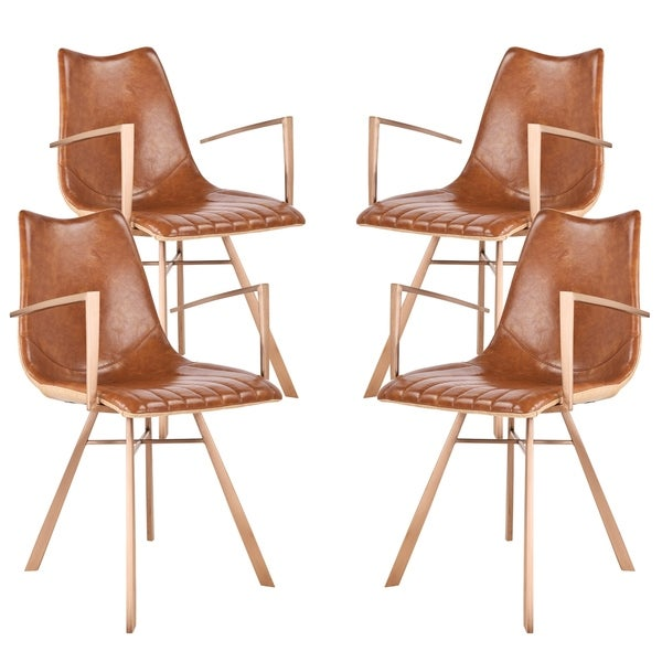 Shop Shelly Dining Chair in Copper Brushed Stainless Steel ...