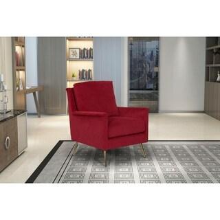 HomePop Modern Armchair - Textured Ruby Velvet
