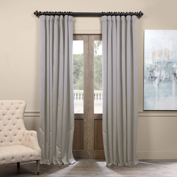 Exclusive Fabrics Extra Wide Thermal Blackout 108-inch Curtain Panel in Classic Taupe (As Is Item)