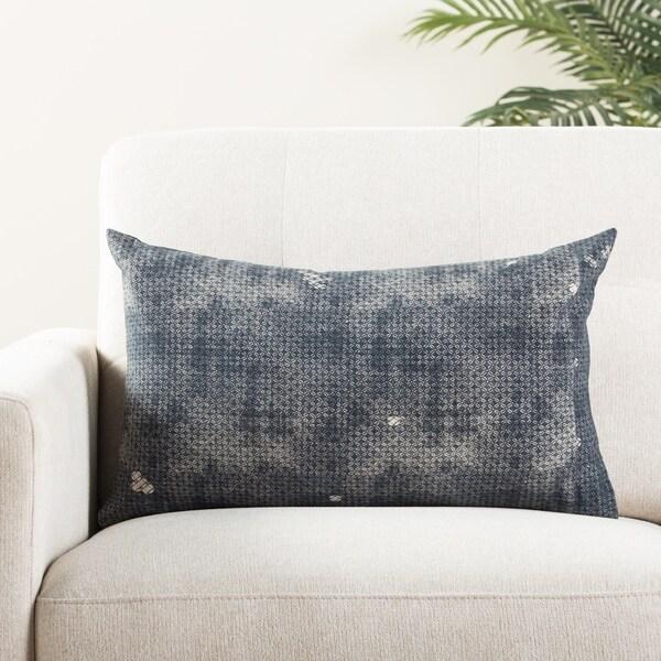 The Curated Nomad Otis Trellis Indigo/ Grey Throw Pillow