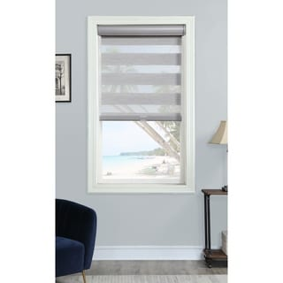 Home Collections Cordless Grey Straie Layered Shade