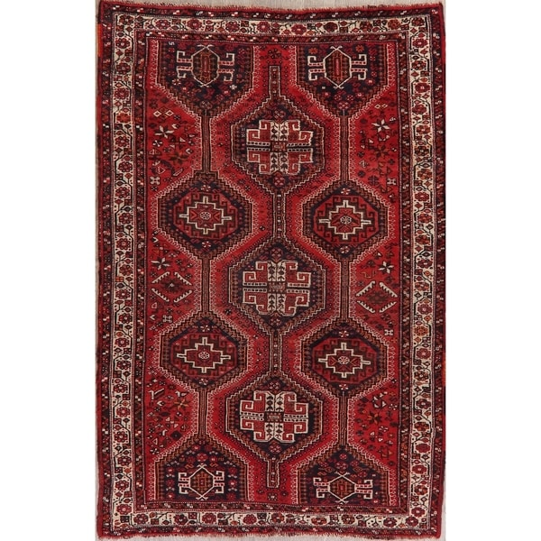 "Lori Oriental Tribal Antique Hand Knotted Wool Persian Area Rug - 8'4"" x 5'4"""