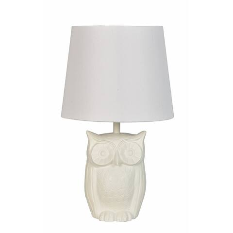Lamps Per Se 16.5-inch White Owl Table Lamp (Set of 2)