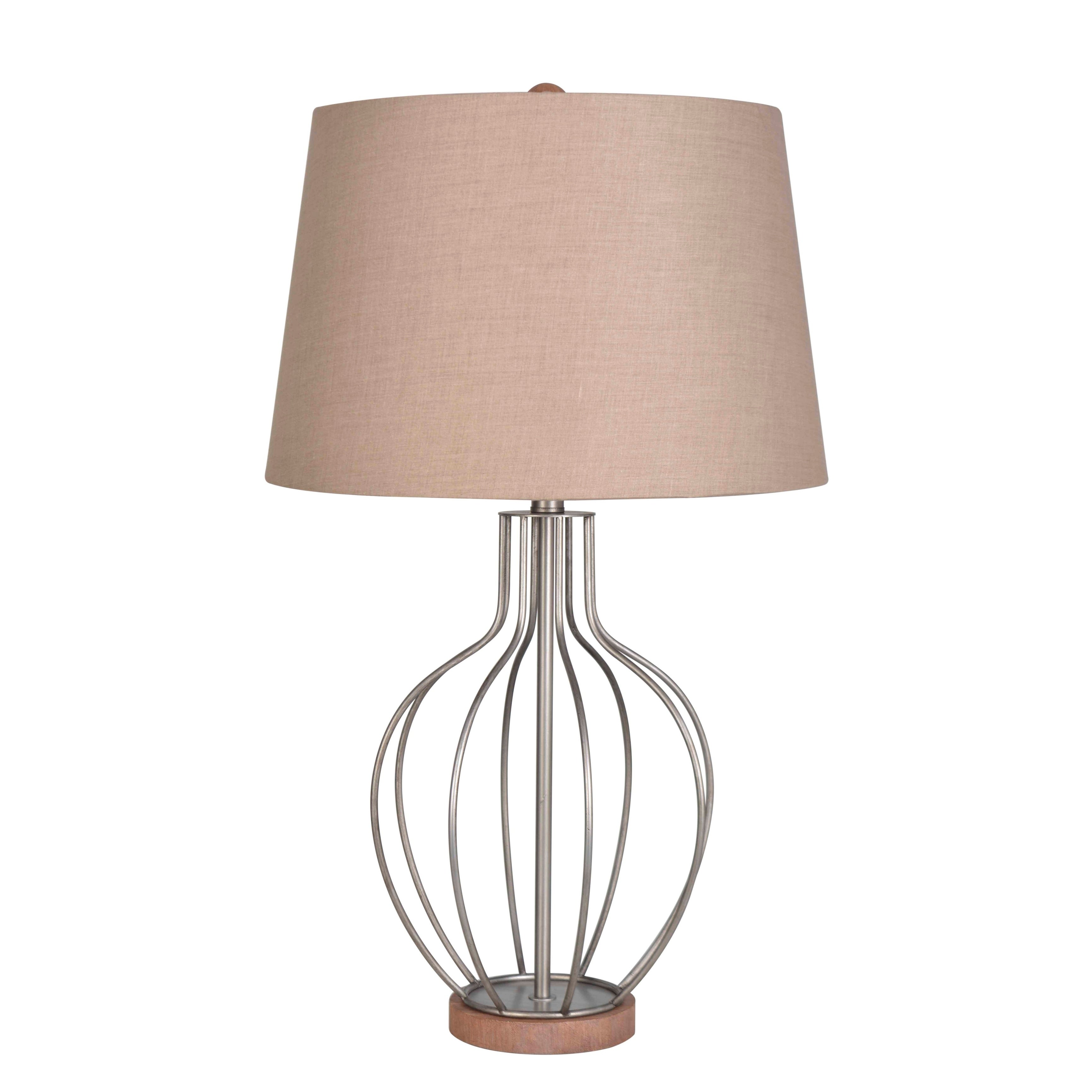 Lamps Per Se 28 5 Inch Aged Pewter Table Lamp Set Of 2 28 5 Overstock 28684008