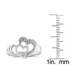 Journee Collection  Sterling Silver Infinite Hearts CZ Fashion Ring