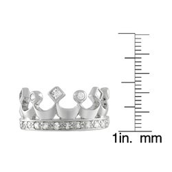 Journee Collection  Sterling Silver Crown Cut CZ Fashion Ring