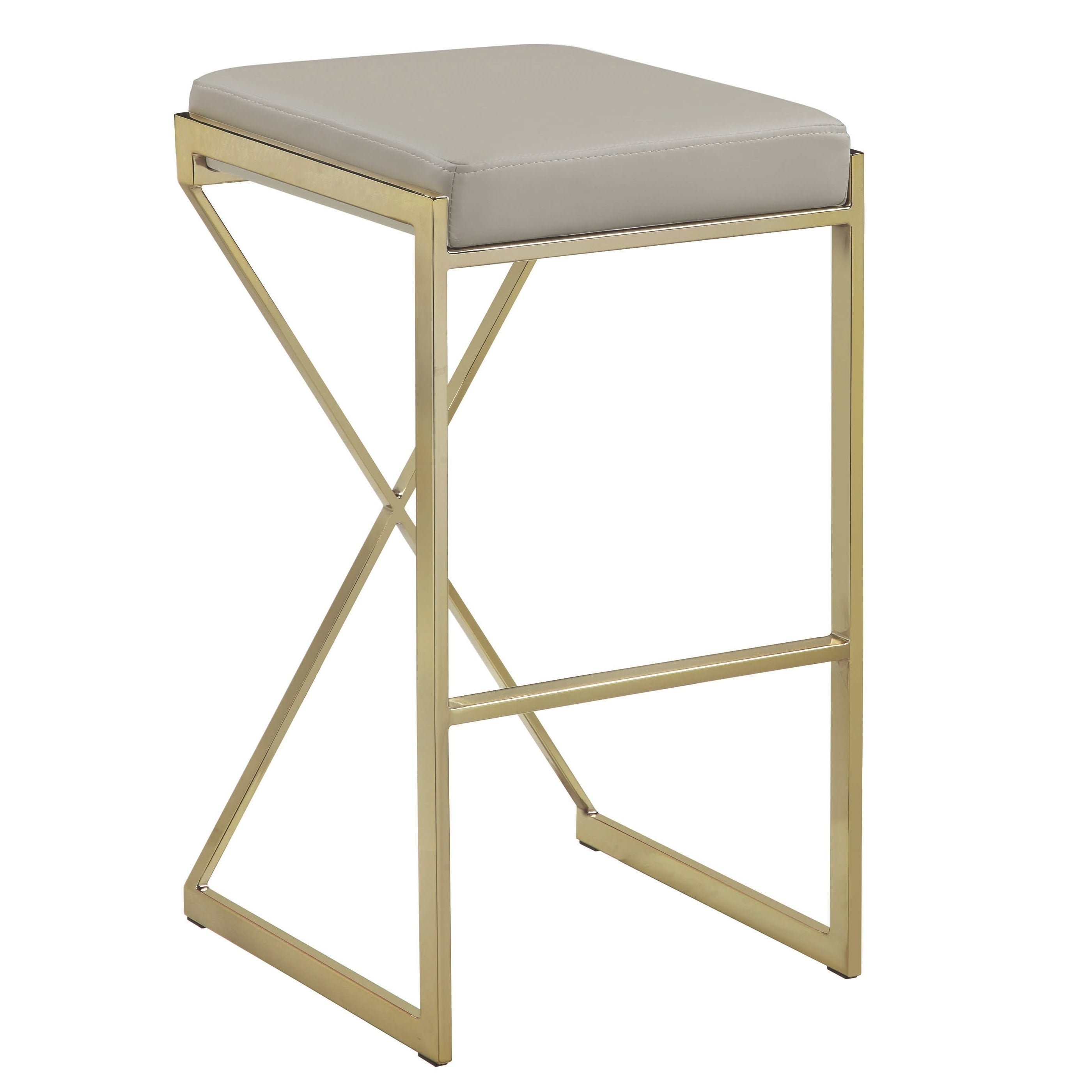 Pleasant Contemporary Sleek Design Gold Taupe 30 Inch Bar Stool Bar Height Ibusinesslaw Wood Chair Design Ideas Ibusinesslaworg