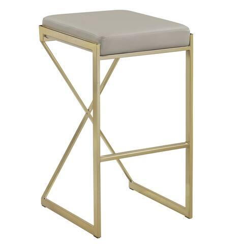 Contemporary Sleek Design Gold/ Taupe 30-inch Bar Stool - Bar Height