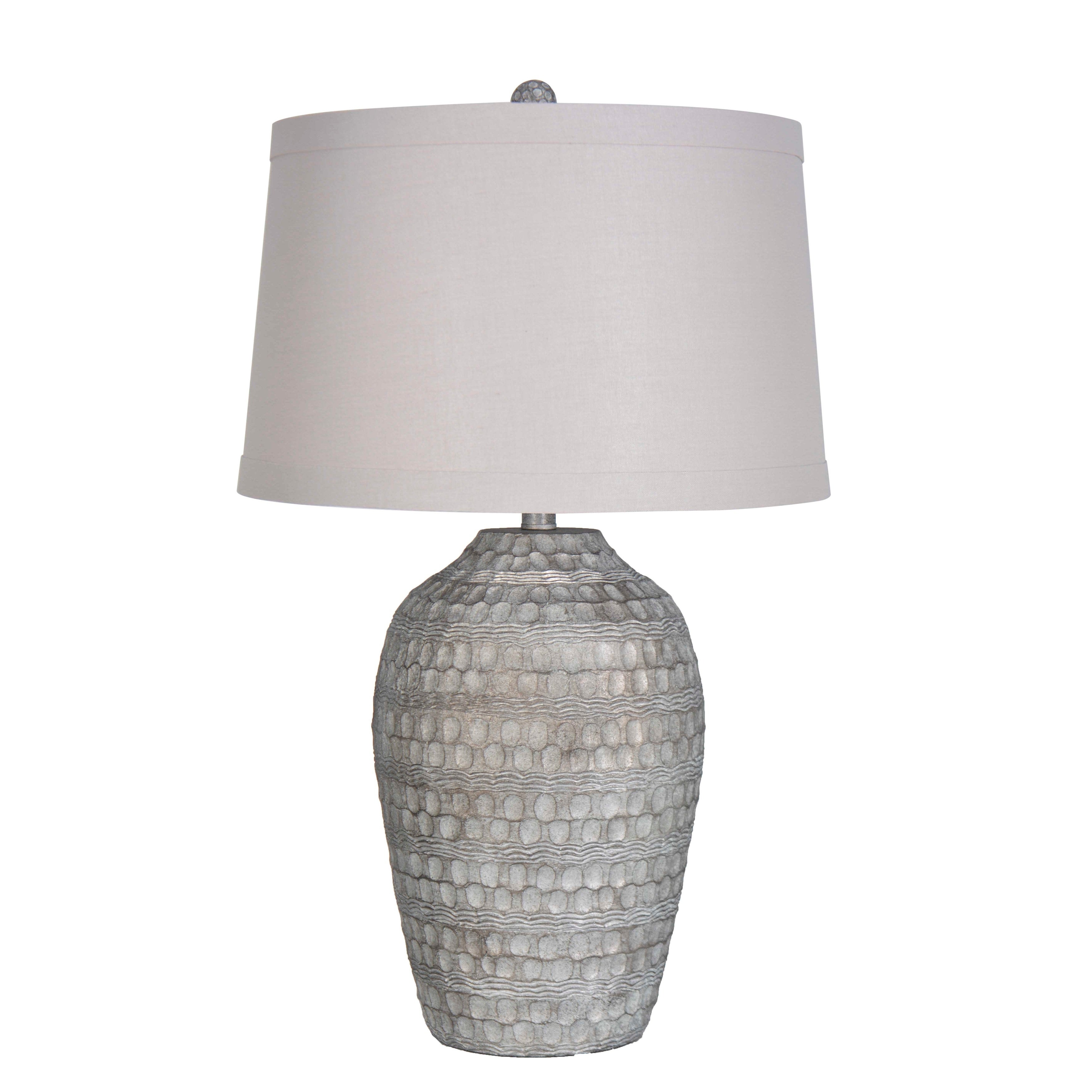Lamps Per Se 27 875 Inch Antique Silver With White Wash Table Lamp Set Of 2 N A