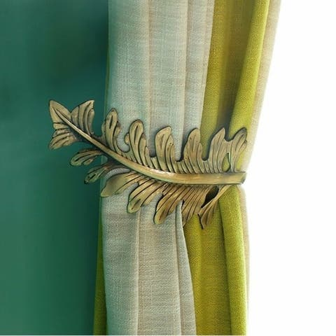 Olivia Leaf Curtain Holdbacks (Set of 2)