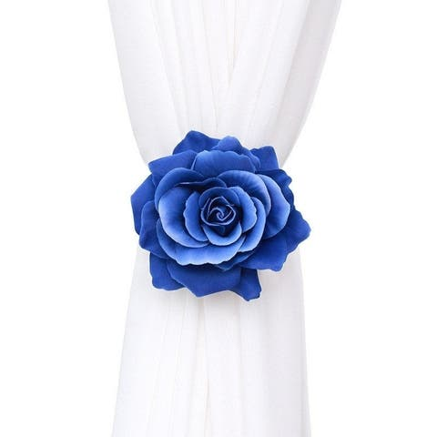 Marry Magnetic Button Rose Style Tieback (Set of 2)