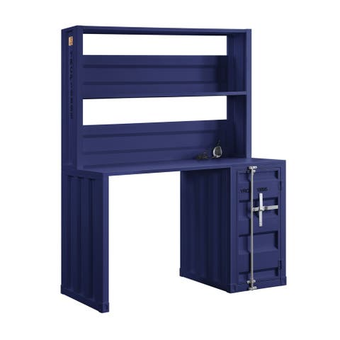ACME Cargo Desk & Hutch in Blue