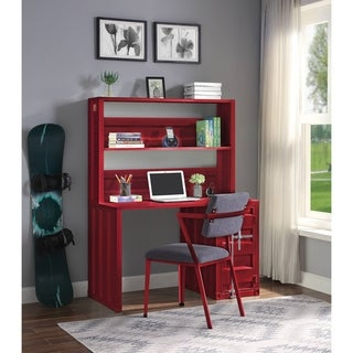ACME Cargo Desk & Hutch in Red