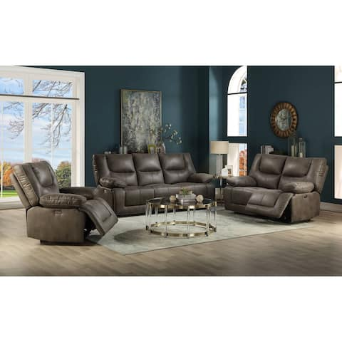 ACME Harumi Recliner (Power Motion) in Gray Leather-Aire