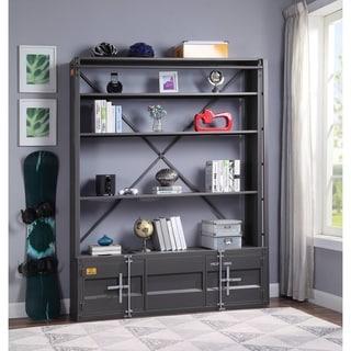 ACME Cargo Bookshelf & Ladder (TV Stand) in Gunmetal