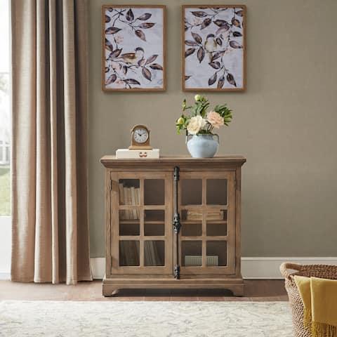 Martha Stewart Liberty Reclaimed Oak 2 Door Accent Cabinet