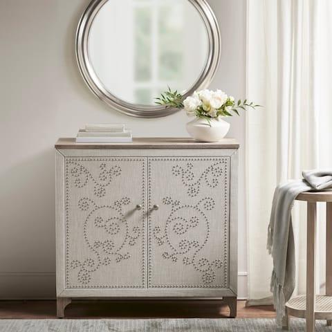 Martha Stewart Kaden Natural 2 Door Accent Cabinet