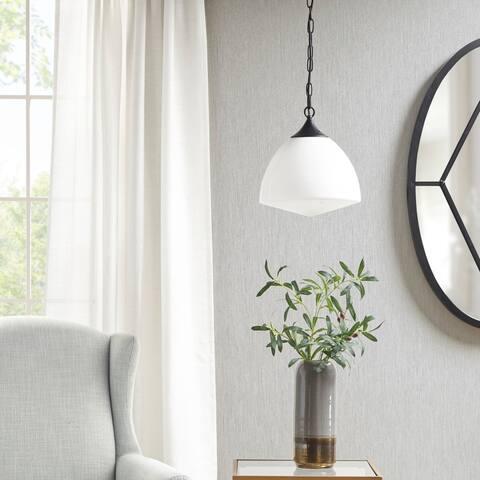Martha Stewart Lyon White Glass Pendant