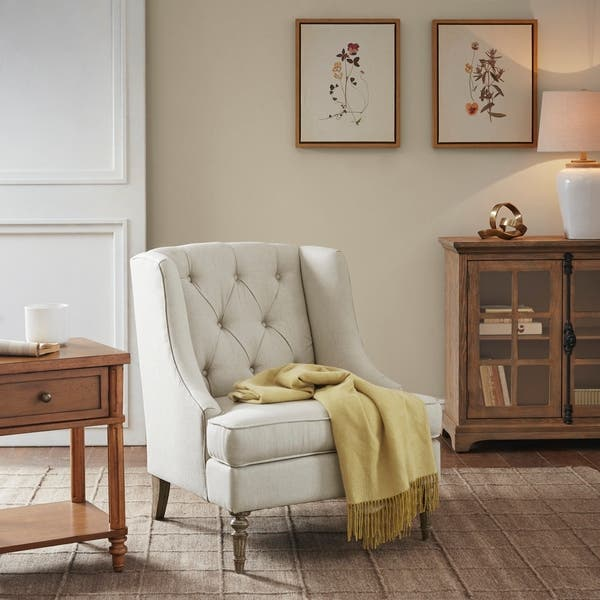 Miraculous Shop Martha Stewart Brielle Natural Wingback Accent Chair Ocoug Best Dining Table And Chair Ideas Images Ocougorg