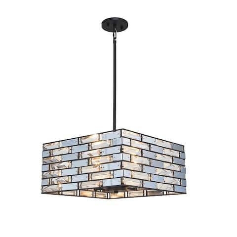 Woodbridge Lighting 20220BLK Shimmer 4-light Pendant