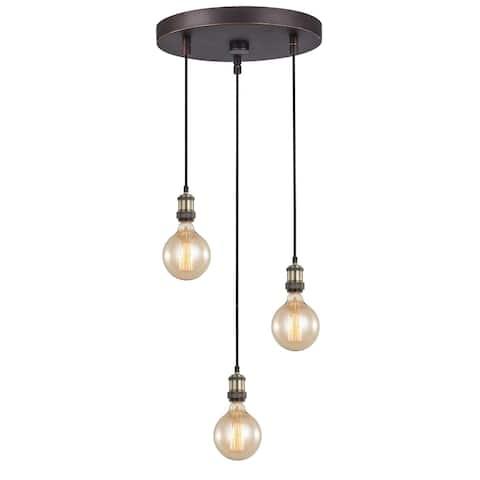 Woodbridge Lighting 18324Z-G125 Fulton Cluster Pendant w/ G125 Bulb