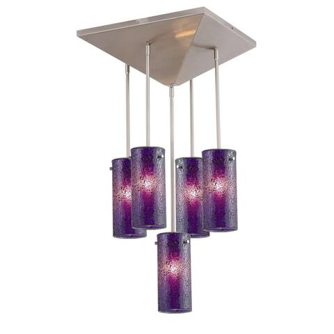 Woodbridge Lighting 20515STN-M10 Pyramid 5-light Pendant
