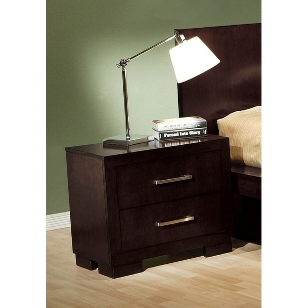 Tokyo Cappuccino 2-piece Platform Bedroom Set with Nightstand
