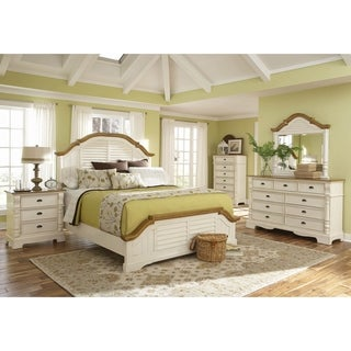 Storybook Buttermilk 2-piece Panel Bedroom Set with Nightstand