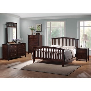 Nebraska Cappuccino 3-piece Panel Bedroom Set with 2 Nightstands