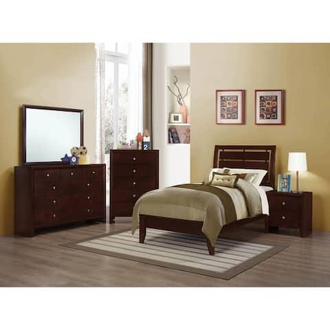 Orlando Rich Merlot 2-piece Panel Bedroom Set with Dresser